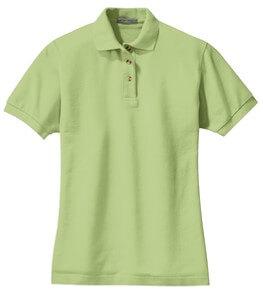 light green polo shirt