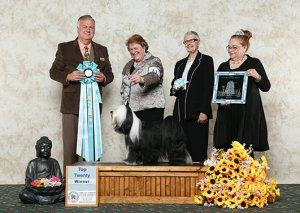 Top Twenty winner photo with judge and handler