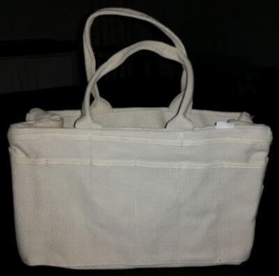 khaki color large purse