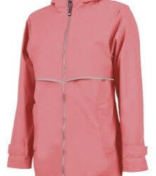 woman's raincoat peach