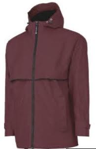 mens raincoat reddish brown